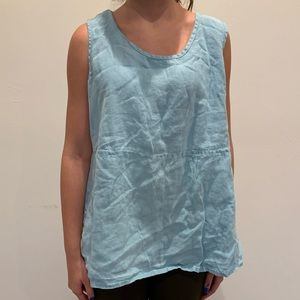 Flax Linen Tank Top. Size Medium.